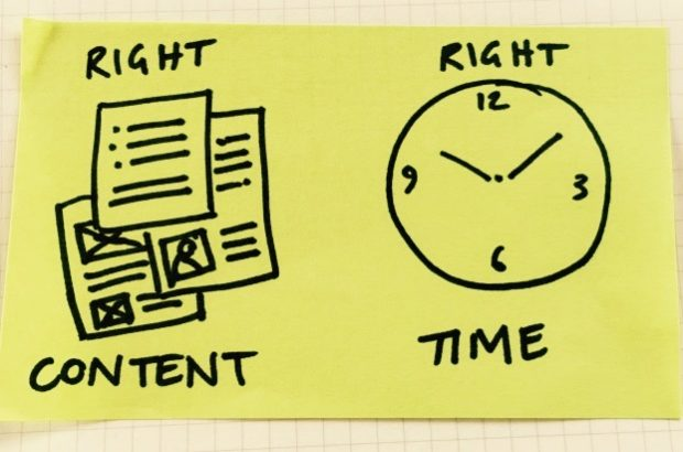"post it - ""right content - right time"""
