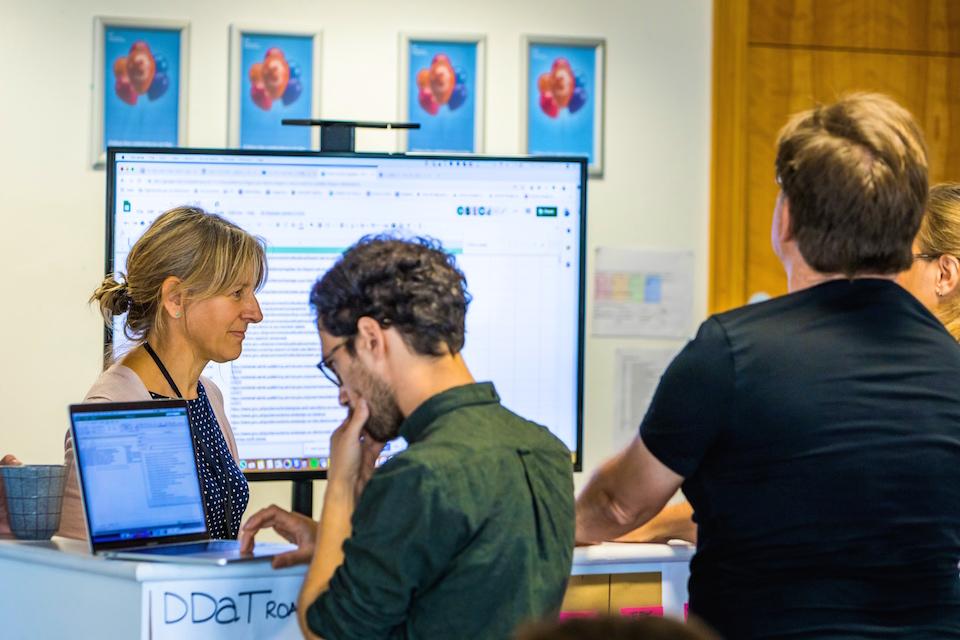 Content design team meeting at DIT