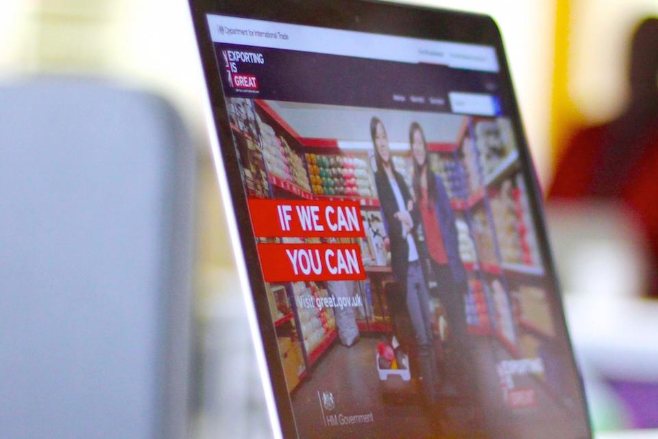 Computer screen featuring great.gov.uk website