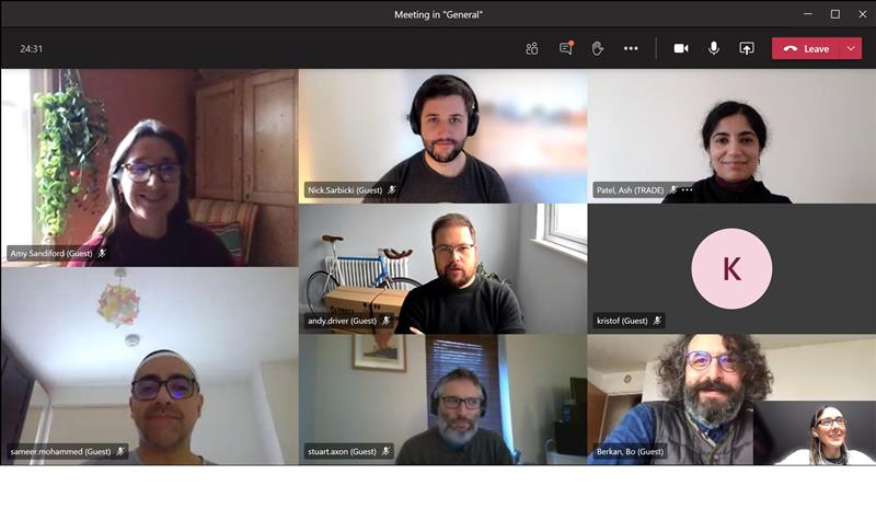 A screenshot of a meeting by the team behind the new service