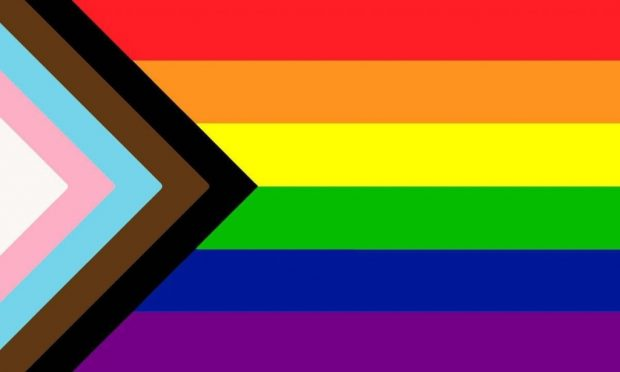 A picture of the modern pride flag
