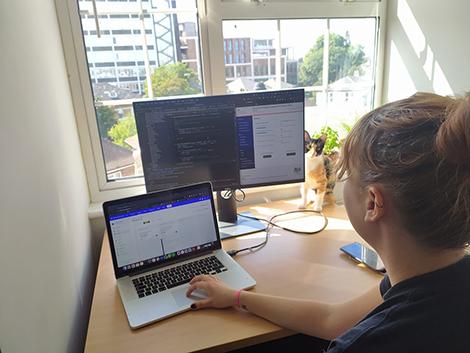 Image of Natasha working from home